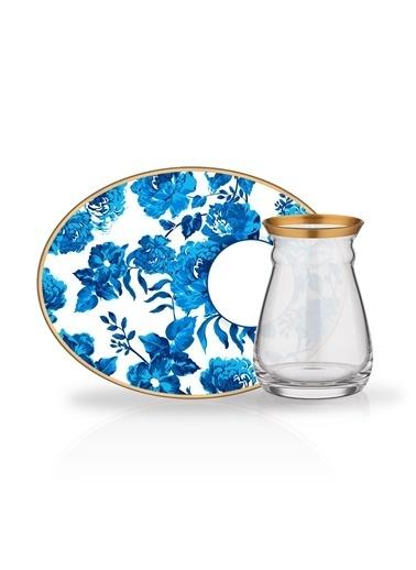 Glore Nihavent Jasmin Atıştırmalık 6'Lı Çay Seti Renkli